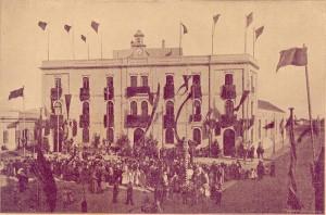 Inauguración de las Escuelas de Carmen Benítez, 1896